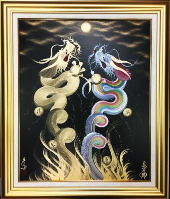 Rising Couple dragons to the moon